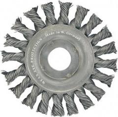 Brosse circulaire acier torsadée 115x mm