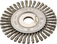 Brosse circulaire acier torsadée 115x6x mm