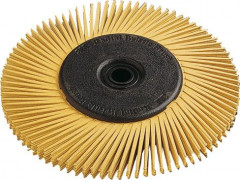 Radial Bristle Brush type A 150x12mm P80 jaune