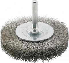 Brosse circulaire inox ondulée 30x6x mm