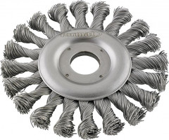 Brosse circulaire acier torsadée 125x mm