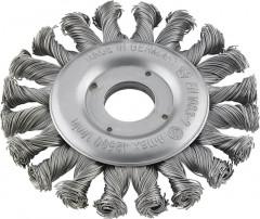 Brosse circulaire acier droite/gauche torsadée 115x0,5mm