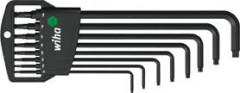 Jeu de clés mâles coudées tête sphérique T9-T40x mm 8 pièces