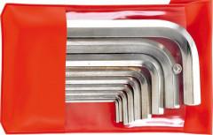 Jeu de clés mâles coudées dans une trousse 6 pans 2-14x mm