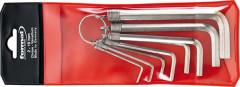 Jeu de clés mâles coudées sur anneau 6 pans 2-10x mm