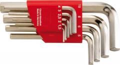 Support pour clés mâles coudées 1,5-10x mm 9 pièces
