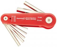 Jeu de clés mâles coudées plastique 2,5-10mm