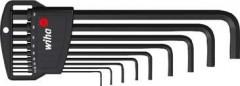 Jeu de clés mâles coudées sur monture phosphatées 1,5-10x mm