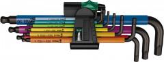 Jeu de clés mâles coudées Multicolor 9 pièces
