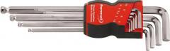 Jeu de clés mâles coudées à tête sphérique 1,5-10x mm