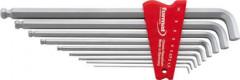 Jeu de clés mâles coudées six pans femelle 100° 1,5-10x mm