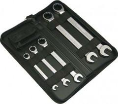 Jeu de clés polygonales à cliquet 8-19mm 9 pièces
