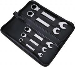 Jeu de clés à cliquet articulées 8-19mm 5 pièces