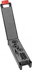 Jeu d'emporte-pièces à vis avec roulement à billes Ø28,3/32/35mm et embout foret perce-tôle 1/4