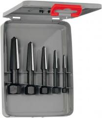 Jeu d'extracteurs de vis 2 dents filetage à droite et à gauche 5 pièces taille 1-5