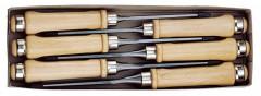 Jeu de ciseaux à bois avec manche en bois 6 pièces