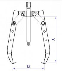 extracteur 2 bras longs auto-serrant