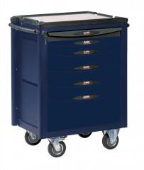 servante 6 tiroirs bleue et grise