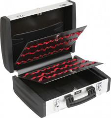 valise aluminium lisse double plateaux