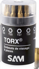 barillet embouts titane torx