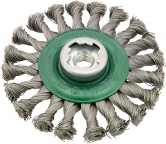 Brosse circulaire X-LOCK inox torsadee 125x mm osborn