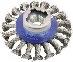 Brosse conique X-LOCK acier 100-0,35mm torsadée Osborn