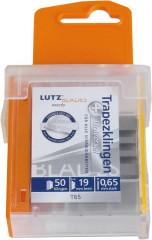 Lame trapézoïdale standard 0,65mm pack de 50 LUTZ BLADES