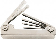 Jeu de clés mâles coudées sur monture métal 1,5-6mm 7 pièces FORTIS