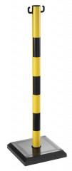 Poteau de consignation jaune et noir