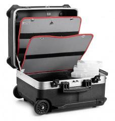 Valise container électro-mécanique à roulettes