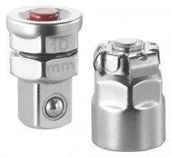 Lot de 2 adaptateurs pour clés 10 mm vers carré 1/4