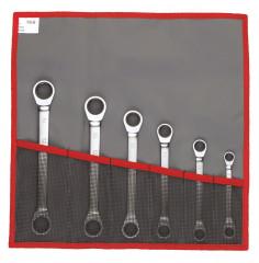 Jeu de clés polygonales à cliquet droites métriques et pouces