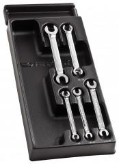 Module de clés à tuyauter droites avec toile métriques en plateau thermoformé