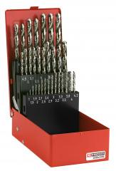 Composition de 32 forets pour rivetage et taraudage
