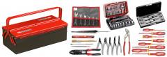 Sélection électricien 69 outils - boîte à outils métal