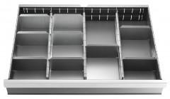 Jeu de 18 cloisons pour tiroirs de 50 et 75 mm