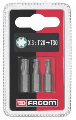 Jeu de 3 embouts standards série 1 Torx® T20-25-30