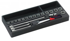 module 20 outils cliquet douilles et accessoires 3/8