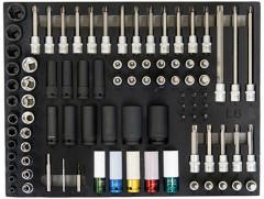 composition douilles et accessoires de 90 outils