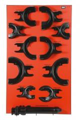 panneau rouge suspension
