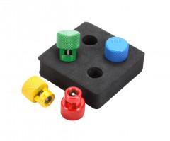 kit de 4 bouchons de purge pour valves tpms