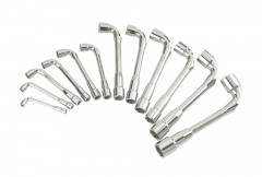 jeu de 12 cles a pipe debouchees 7 a 24 mm 6x6 pans