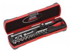 coffret bimatiere douilles et accessoires 1/4 - 17 outils
