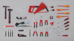 composition 60 outils electricien industrie et batiment