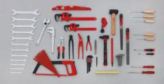 composition 59 outils plombier chauffagiste climaticien