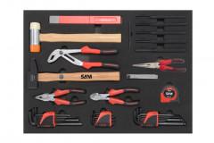 plateau 3 de la composition de 135 outils