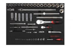 composition de 135 outils en module mousse