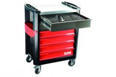 composition de 200 outils avec servante 6 tiroirs en module mousse