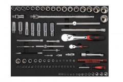 composition de 200 outils en modules mousse