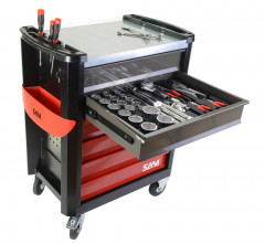 composition 255 outils en module mousse + servante